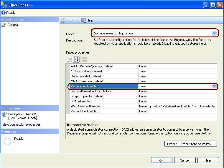How to enable Dedicated Administrator Connection Feature in SQL