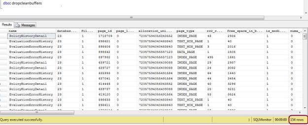 DBCC DROPCLEANBUFFERS | SQLDBPool – OLTP, OLAP