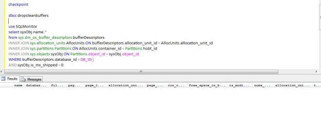 DBCC DROPCLEANBUFFERS | SQLDBPool – OLTP, OLAP, Big Data